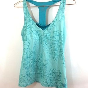 The North Face Floral Athletic Tank Top Sz M